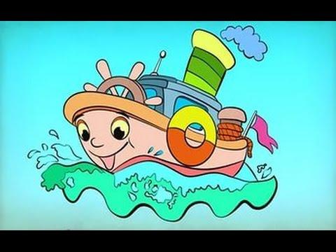 Сказка Раскраска. Мультфильм про Машинки. Игра для Детей Coloring Funny transport
