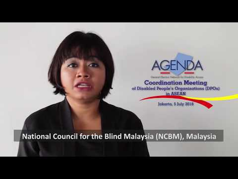 Image of the video: Muhamad Nadhir: National Council for the Blind, Malaysia NCBM
