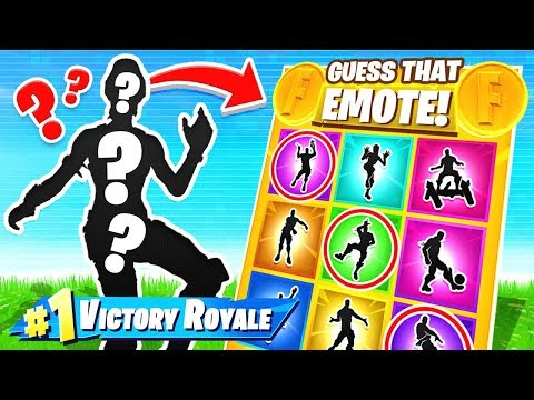 GUESS The RARE EMOTE *NEW* Game Mode in Fortnite Battle Royale