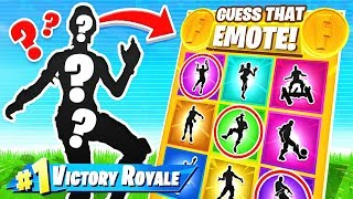 GUESS The RARE EMOTE! 3 Questions! *NEW* Game Mode in Fortnite!