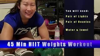 PYRAMID HIIT 45 MIN PART 1 (light & medium weights)