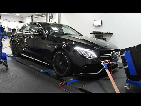 Stage2 tuning Mercedes C63s w205 on dyno @ auto-chippen nl