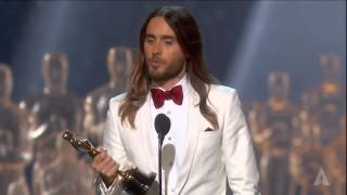 <b>Jared Leto</b> Winning Best Supporting Actor