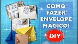 """COMO FAZER ENVELOPE """"MÁGICO"""" - DIY - Estúdio Brigit"""
