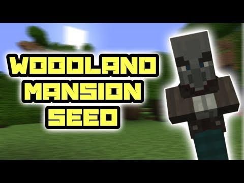 MCPE 1 1 Woodland Mansion seed! (Minecraft PE 1 1 Woodland