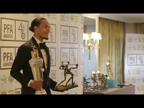 العرب اليوم - شاهد: فان دايك يتوج بجائزة لاعب العام في الدوري الإنجليزي