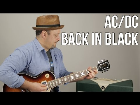 AC/DC - Back In Black - Guitar Lesson - How To Play Electric Guitar Tutorial - Marty Music