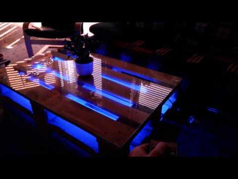 DIY Europaletten Tisch mit LED Beleuchtung