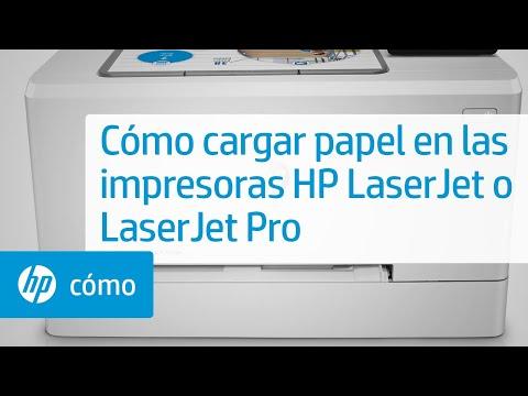 Carga de papel en su impresora HP LaserJet