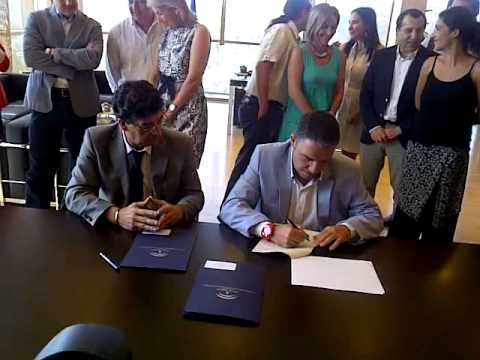 Firma del convenio del PFEA 2013