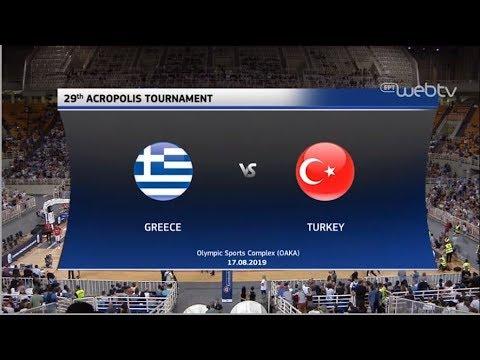 Τουρνουά Ακρόπολις: Ελλάδα – Τουρκία : 84-70 | ΟΛΟΚΛΗΡΟΣ ΑΓΩΝΑΣ | 17/08/2019 | ΕΡΤ