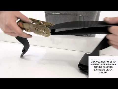 Como usar una cincha con tensor de carraca