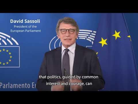 European Parliament President David Sassoli - Message Europe Day 2020 Online Campaign