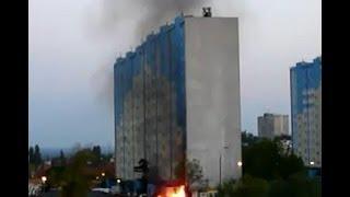 preview picture of video 'Pożar - Gorzów Wielkopolski, Wyczółkowskiego 20-05-2014, 21:05'
