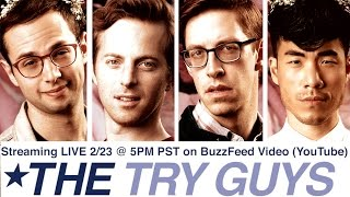 The Try Guys are reacting to their new show on YouTube Live