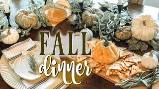 FALL DINNER PARTY PREP / Fall Tablescape, Fall Recipes + Fall Inspired Cocktails