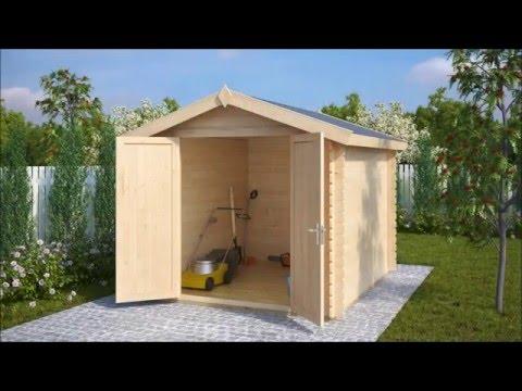 Gerätehaus aus Holz Andy L 6,2m² / 28mm