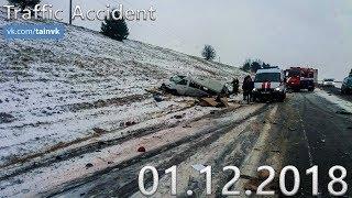 Подборка аварий и дорожных происшествий за 01.12.2018 (ДТП, Аварии, ЧП, Traffic Accident)