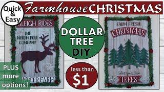 DOLLAR TREE DIY CHRISTMAS DECOR | DIY CHRISTMAS SIGNS