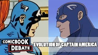 Gambar cover Evolution of Captain America in Cartoons in 14 Minutes (2018)