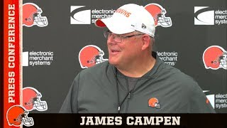 James Campen Switching Up the O-Line Starting 5 During Preseason | Cleveland Browns