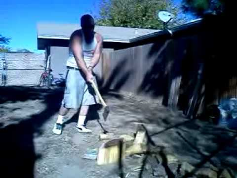 How to chop fire wood with Mr. Ubelievable