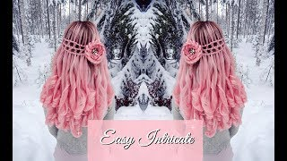 Fantasy Hair | Criss Cross Waterfallbraid & BIG Flower | How To Hair