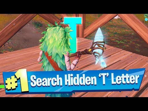 Search hidden 'T' found in the Trick Shot Loading Screen - Fortnite Battle Royale