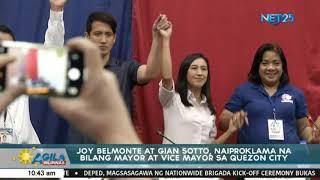 Joy Belmonte at Gian Sotto naiproklama na bilang Mayor at Vice Mayor sa Quezon City
