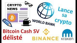 Rakuten Bank & cryptos, BCH SV délisté, IMF sort sa crypto