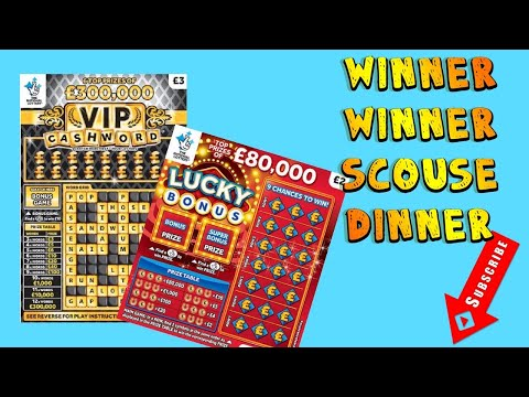 NEW Lucky Numbers VIP Cashword Scratch Card Win