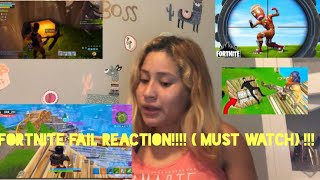 MY FORTNITE FAILS REACTION!! ( MUST WATCH)!!!!