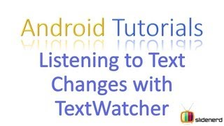 #68 Android Application Development Tutorial: EditText Validation with TextWatcher [HD 1080p]