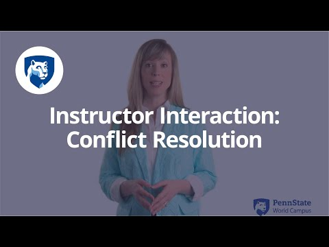 Conflict Resolution within Group Work in Online Classes