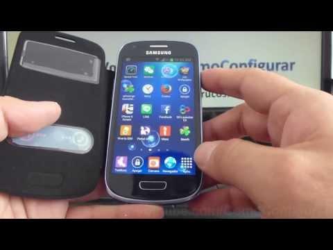 Carcasa Samsung Galaxy s3 mini i8190 Funda Flip Case Cover negro dura con goma