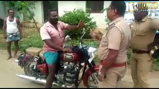 கக்கூஸ் போரா.. போலீசை வெளுத்து வாங்கிய புல்லட் பாண்டி | Police | Helmet