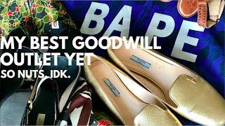 My Best Goodwill Outlet Haul Ever.. BAPE, Prada & Fendi!!