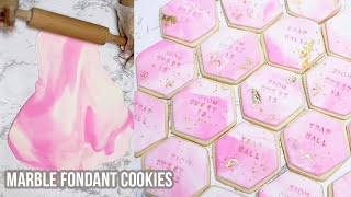 Marbled Sugar Cookies Tutorial | SUPER EASY & QUICK | Detailed
