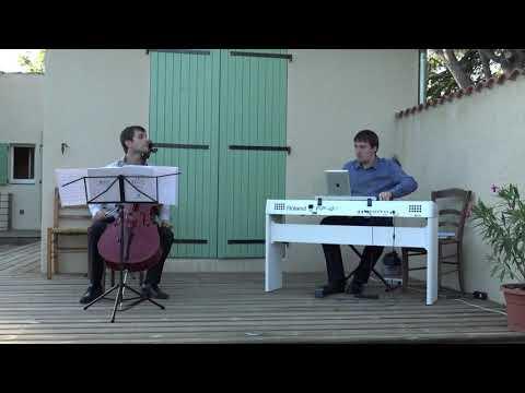 Astor Piazzolla, Le grand Tango pour violoncelle et piano, extrait<br /><br />Marc-Antoine Novel violoncelle, Philippe Hattat piano  <br />Dieulefit, 18 août 2020