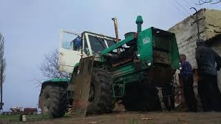 Первый запуск трактора Т-150К, после ремонт двигателя /Moldova
