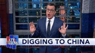 "President Trump doubled down on his impeachable behavior on Thursday, using his 'Chopper Talk' time with reporters to signal that he wants China to investigate Joe and Hunter Biden. #Monologue #ChopperTalk #Colbert  Subscribe To ""The Late Show"" Channel HERE: http://bit.ly/ColbertYouTube For more content from ""The Late Show with Stephen Colbert"", click HERE: http://bit.ly/1AKISnR Watch full episodes of ""The Late Show"" HERE: http://bit.ly/1Puei40 Like ""The Late Show"" on Facebook HERE: http://on.fb.me/1df139Y Follow ""The Late Show"" on Twitter HERE: http://bit.ly/1dMzZzG Follow ""The Late Show"" on Google+ HERE: http://bit.ly/1JlGgzw Follow ""The Late Show"" on Instagram HERE: http://bit.ly/29wfREj Follow ""The Late Show"" on Tumblr HERE: http://bit.ly/29DVvtR  Watch The Late Show with Stephen Colbert weeknights at 11:35 PM ET/10:35 PM CT. Only on CBS.  Get the CBS app for iPhone & iPad! Click HERE: http://bit.ly/12rLxge  Get new episodes of shows you love across devices the next day, stream live TV, and watch full seasons of CBS fan favorites anytime, anywhere with CBS All Access. Try it free! http://bit.ly/1OQA29B  --- The Late Show with Stephen Colbert is the premier late night talk show on CBS, airing at 11:35pm EST, streaming online via CBS All Access, and delivered to the International Space Station on a USB drive taped to a weather balloon. Every night, viewers can expect: Comedy, humor, funny moments, witty interviews, celebrities, famous people, movie stars, bits, humorous celebrities doing bits, funny celebs, big group photos of every star from Hollywood, even the reclusive ones, plus also jokes."