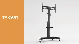 FS11-46T Low Cost Aluminum TV Cart Overview Video