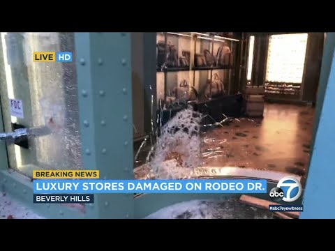 Luxury stores on Rodeo Drive looted, damaged as protests turn violent | ABC7