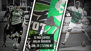 El Paso Coyotes vs Dallas Sidekicks