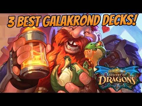 Top 3 Galakrond Decks to hit Legend | Descent of Dragons!
