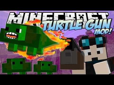 Minecraft | TURTLE GUN MOD! (Exploding, Bouncy Turtle FUN!) | Mod Showcase