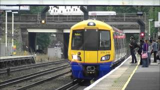 preview picture of video 'London Overground Class 378, Kensington Olympia, 20/07/12.'