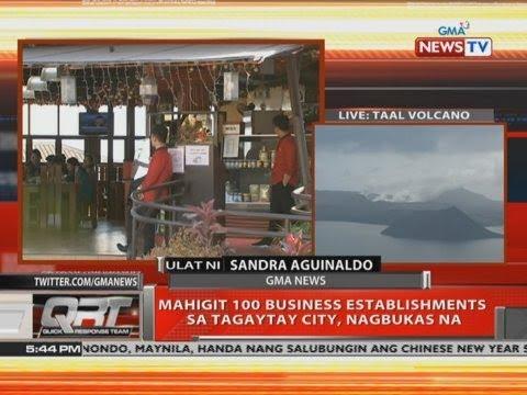 [GMA]  QRT: Mahigit 100 business establishments sa Tagaytay City, nagbukas na