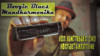 Blues Harp (Mundharmonika) lernen #11 Boogie Woogie Blues auf der Mundharmonika