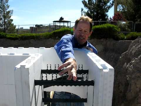 Fox Blocks Randy shows the flexibility of horizontal rebar placement within 12 core Fox Blocks